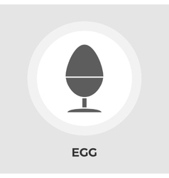 Egg on stand flat icon vector