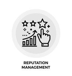 Reputation management line icon vector