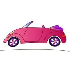 pink car for girl cabriolet summer vector image