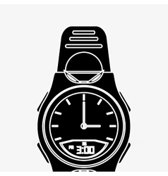 Wearable technology design gadget icon flat vector