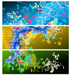 Abstract banners set vector
