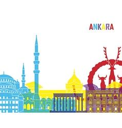 Ankara skyline pop vector
