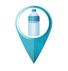 blue water bottle map marker flat design vector image