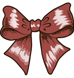 Bows with ribbons red color vector image