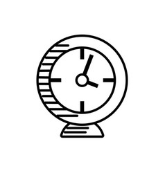 Clock alarm watch outline vector