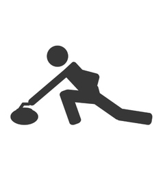 curling pictogram icon vector image