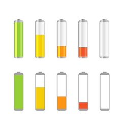 Different accumulator design elements vector image vector image