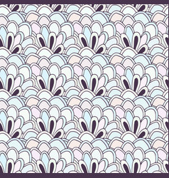 doodle seamless pattern with flowers coloring vector image vector image