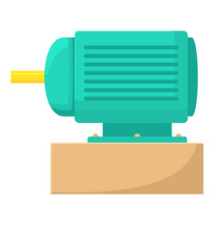 Electric motor icon cartoon style vector
