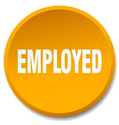 employed orange round flat isolated push button vector image vector image