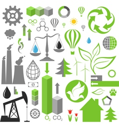 Environment pollution Set of infographics vector image