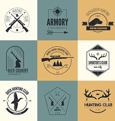 Hunting Logos vector image