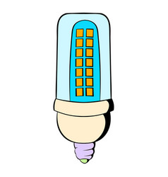 Led lamp icon cartoon vector