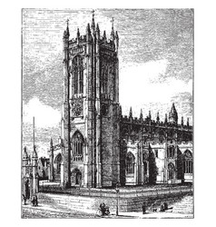 Manchester cathedral vintage vector