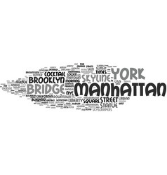 Manhattan word cloud concept vector