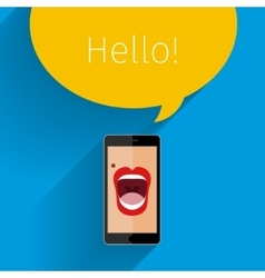 Phone speak concept vector image vector image