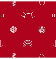 Seamless pattern with australian aboriginal art vector