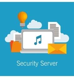 Security server computer cloud documents idea vector