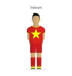 Vietnam football player soccer uniform vector