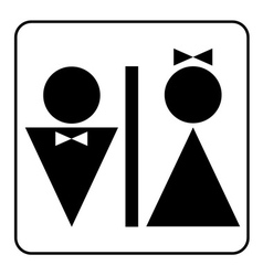 wc black sign vector image