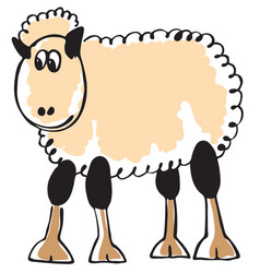 White sheep vector