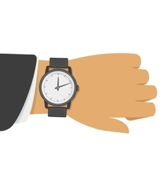 Wrist watch on hand vector image vector image
