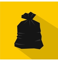 Garbage bag icon flat style vector