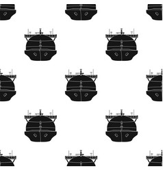 Oil tanker icon in black style isolated on white vector