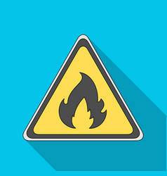 Sign of flammabilityoil single icon in flat style vector