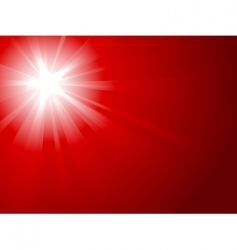 Red light burst vector