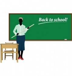 Teacher back to school vector