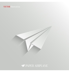 Paper airplane icon - web background vector