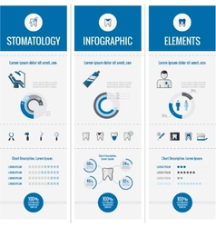 Dental infographic elements vector