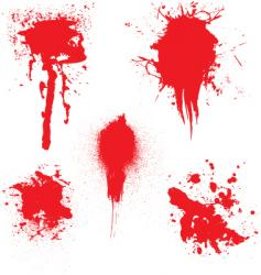 Blood dribble vector