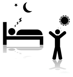 Asleep and awake vector image
