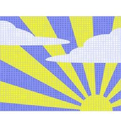 Sunny sky vector