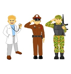 Doctor thai police and military career vector