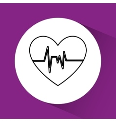 Heart medical healthcare vector