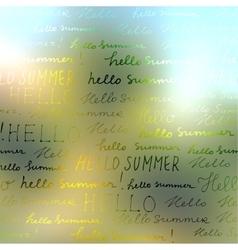 Hello summer background vector