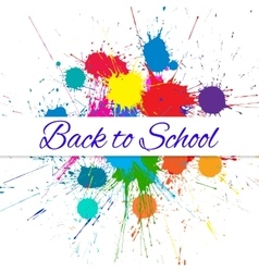 Back to school banner over bright ink color vector