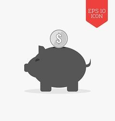 Piggy bank icon money savings concept flat design vector
