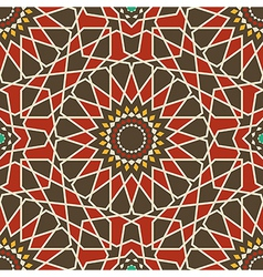 Arabesque seamless pattern in red and brown vector