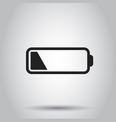 Battery level indicator on gray background vector