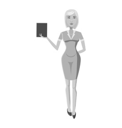 Businesswoman icon gray monochrome style vector image vector image