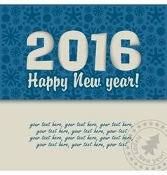 Christmas card 2016 vector image