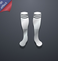 Football gaites icon symbol 3d style trendy modern vector
