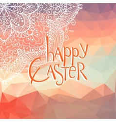 Happy Ester lettering vector image