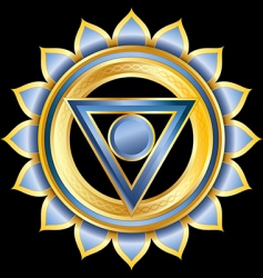 hindu chakra vishuddha medallion vector image