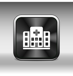 Hospital icon cross building isolated human vector