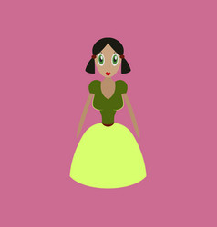 Icon in flat design toy doll vector